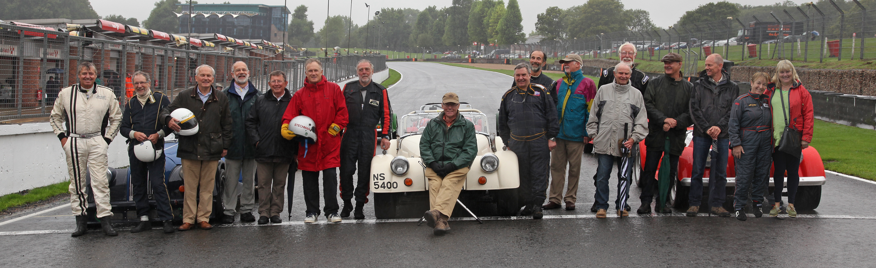 Drivers and organisers from the first year of the Morgan Challenge at a reunion in 2015 Morgan Challenge