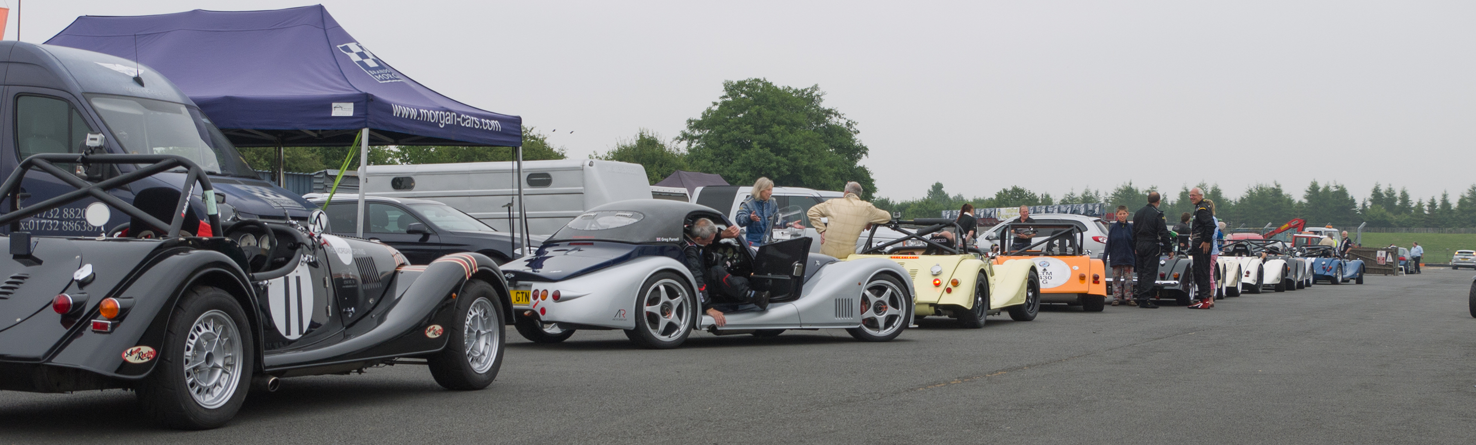 Morgan Challenge race at Castle Combe - collecting area